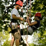 Paul McCathie teaching tree climbing. Photo: Creditableimages.com