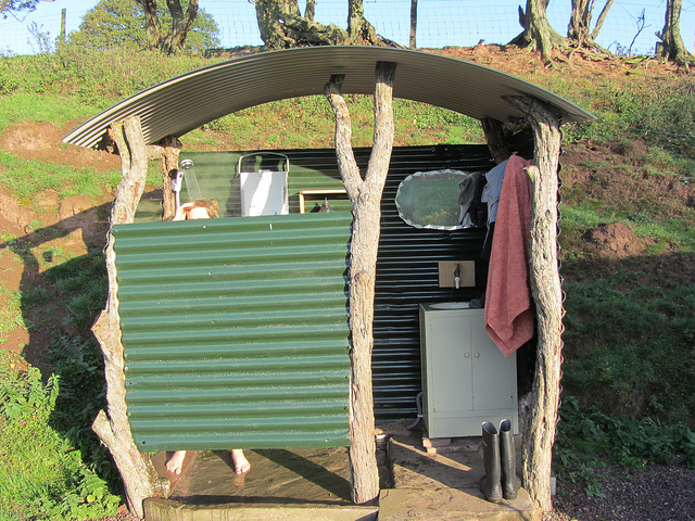 outdoor showers camping