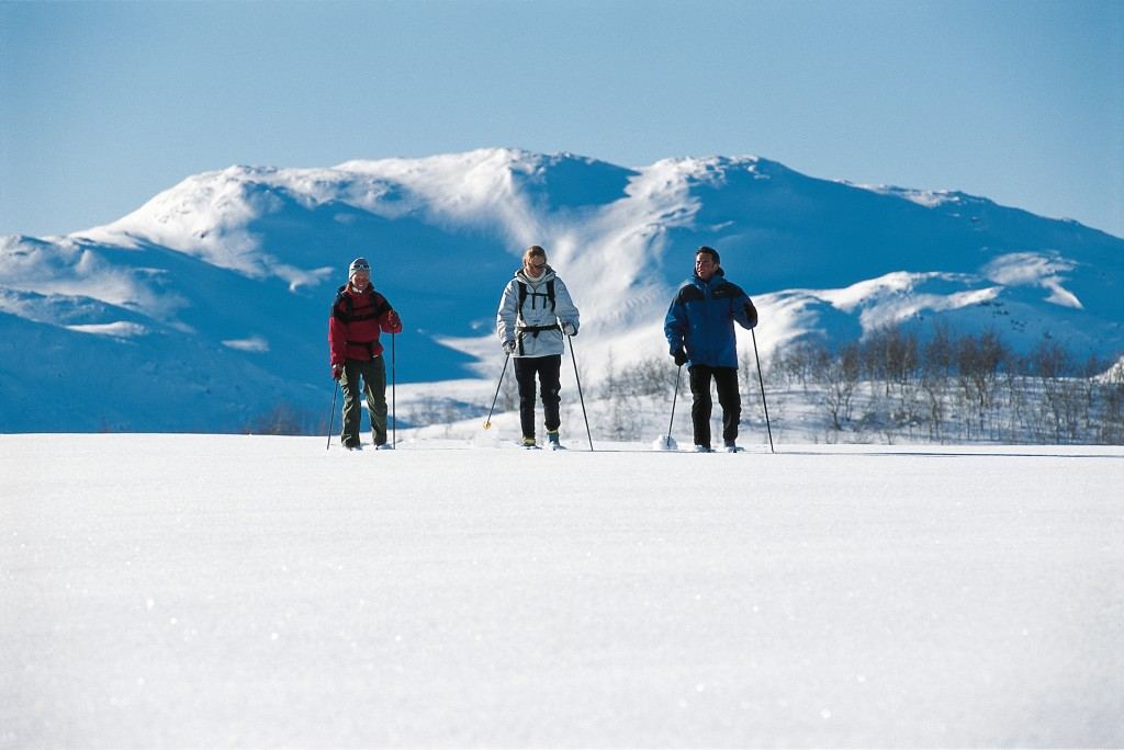 Snowshoeing and cross country skiing in Finland