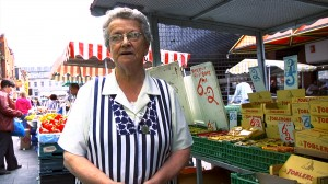The wonderful Bernie who  has been working on Dublin's Moore Street market since she was seventeen