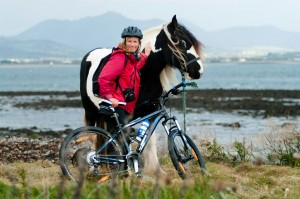 Catherine cycling on Carlingford Lough near Greenore Photo Shay Larkin
