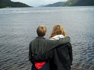 Catherine and Louis overlooking Loch Ness at the end of the trip
