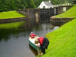 sc2 Catherine's son canoeing on Caledonian Canal