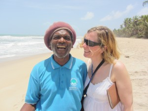 Catherine and Francis Superville, turtle watching guide with Nature Seekers, Matura Beach, Trinidad