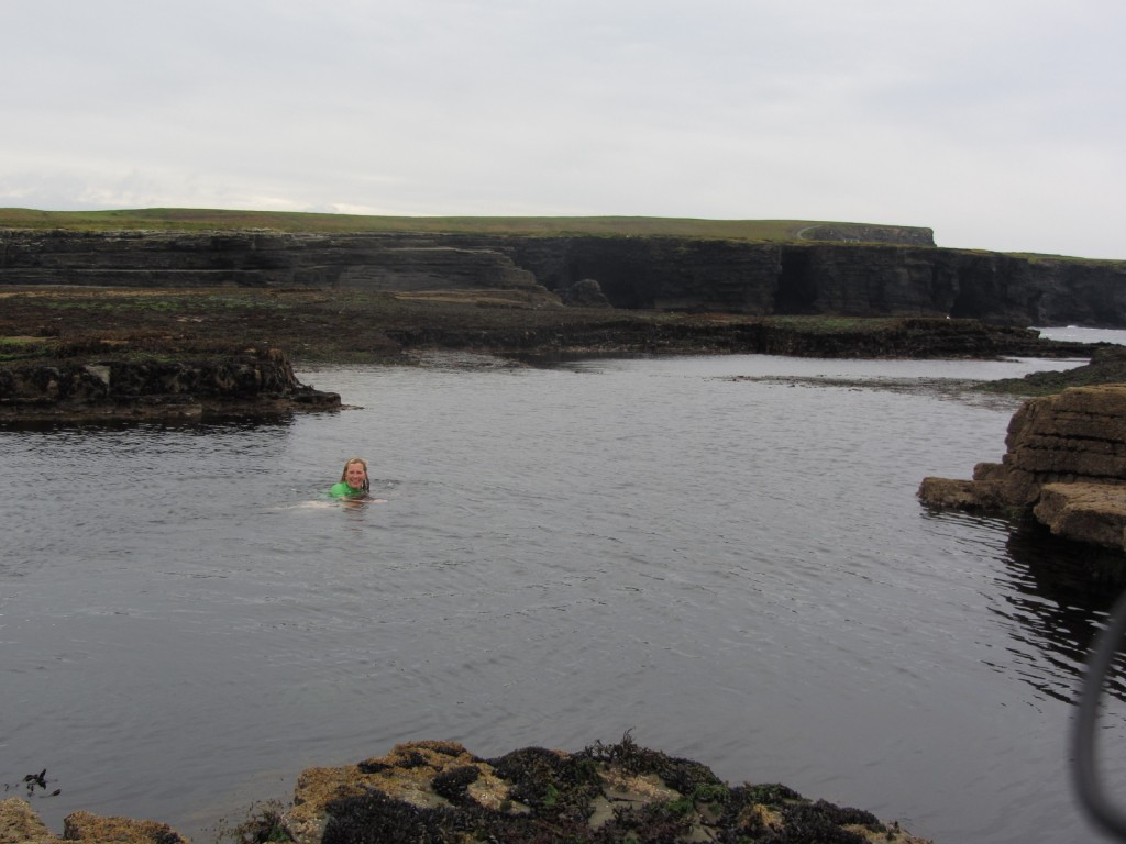 swimming at the Pollack Holes, Kilkee Photo: Catherine Mack