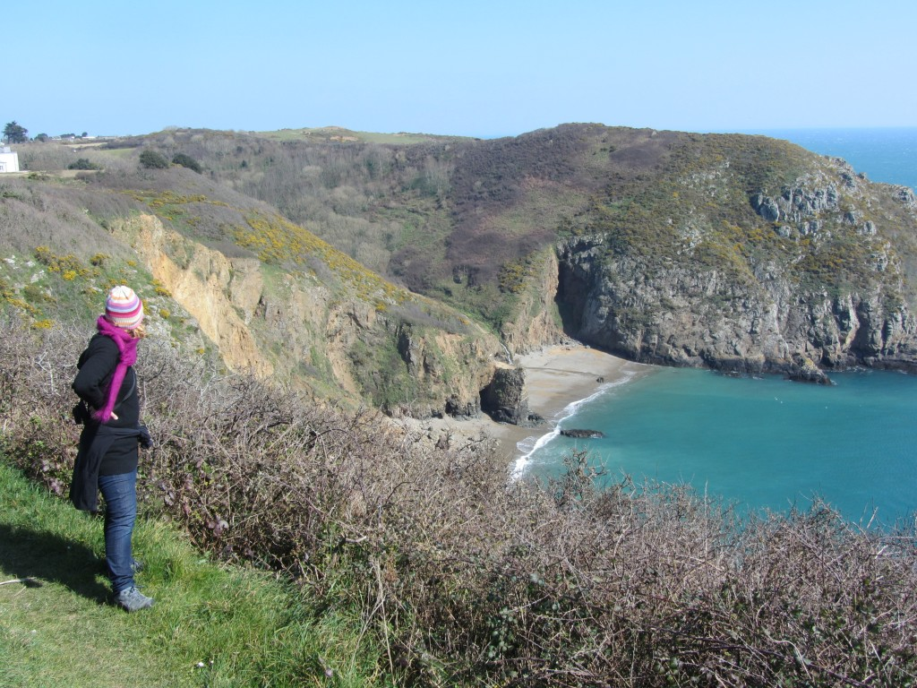 Sark - Catherine overlooking Dixcart Bay