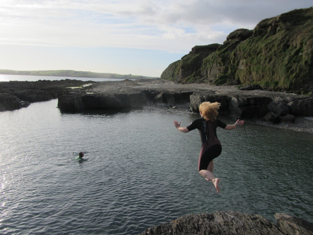 Catherine umping into West Cork Photo: Catherine Mack