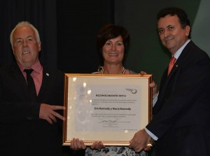 Jim and Maria Kennedy winning the Mexican Ohti award