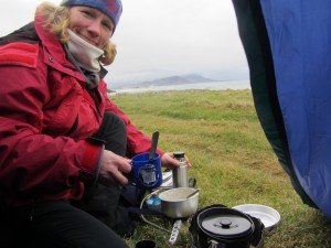 Breakfast int he wilds of Donegal Photo: Catherine Mack