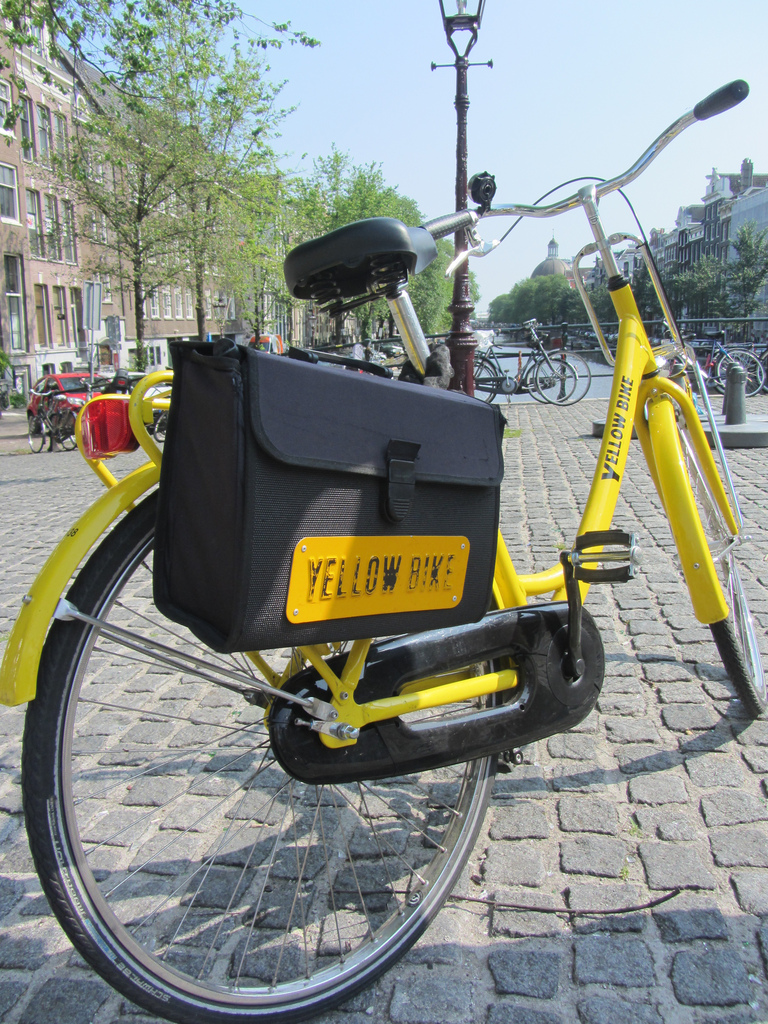 Yellow Bikes of Amsterdam