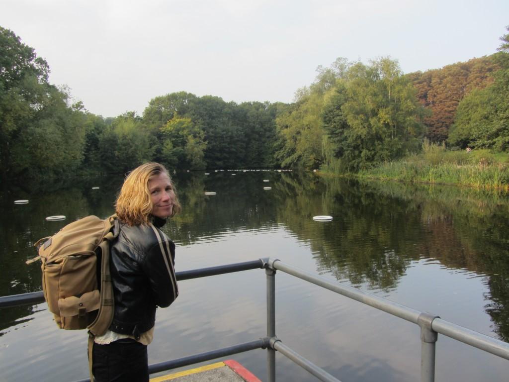 Catherine at Hampstead Ladies pond.