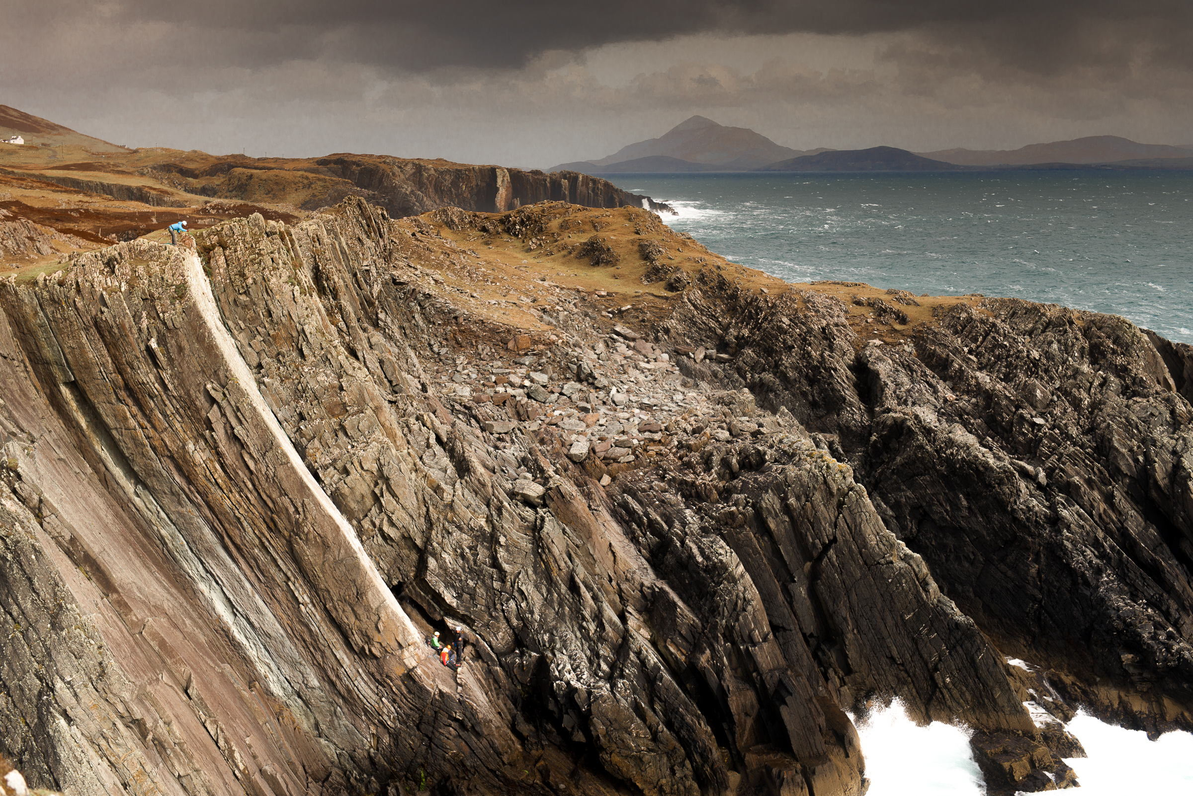 Climbing holiday and sustainable tourism in Ireland. Clare Island, County Mayo. Credit: John Mee Photography