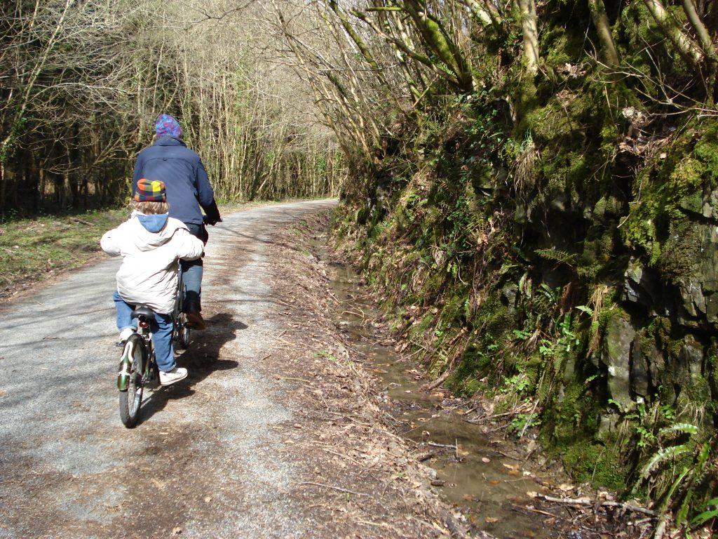 Cycling on the Tarka Trail North Devon