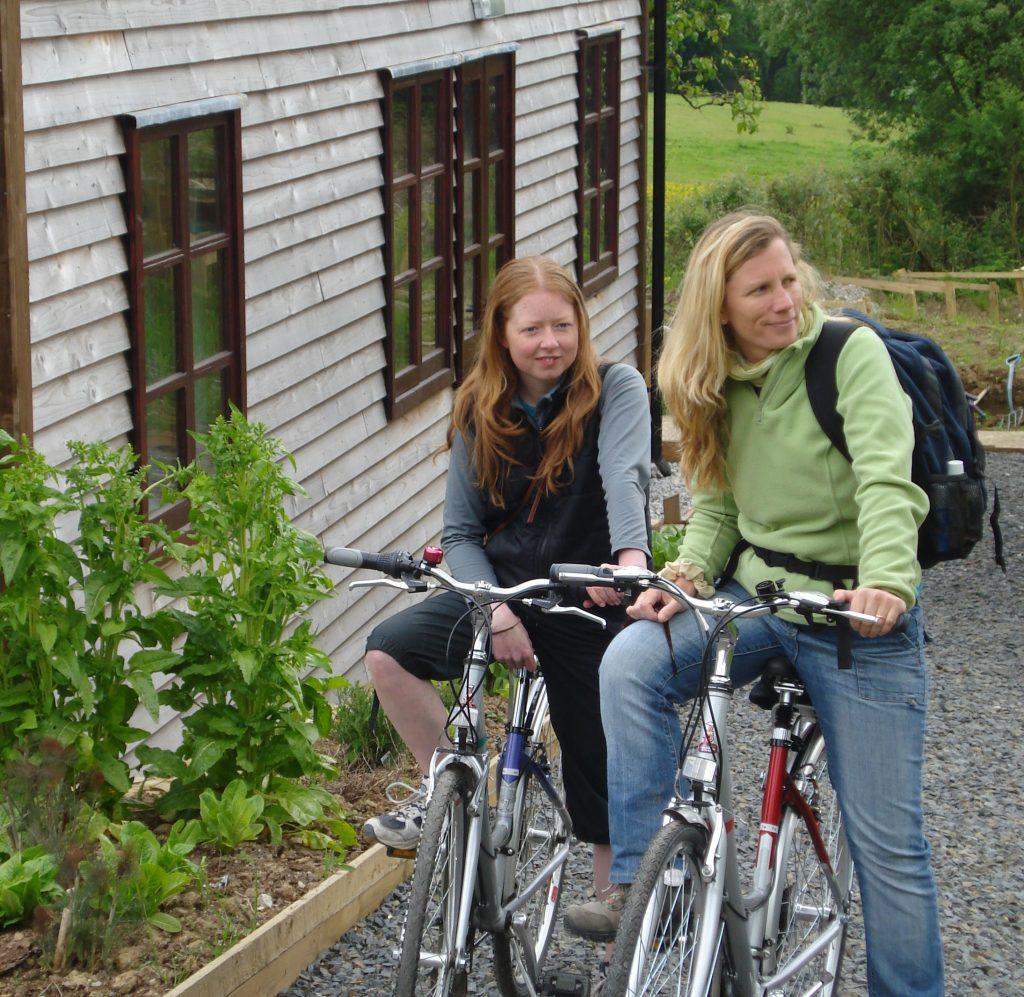 Cycling on the Tarka Trail, North Devon