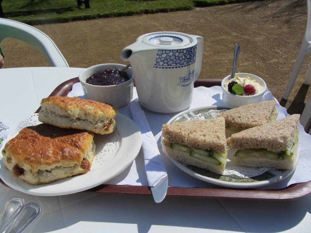 Cream tea at La Sablonnerie, one of the best places to eat on Sark