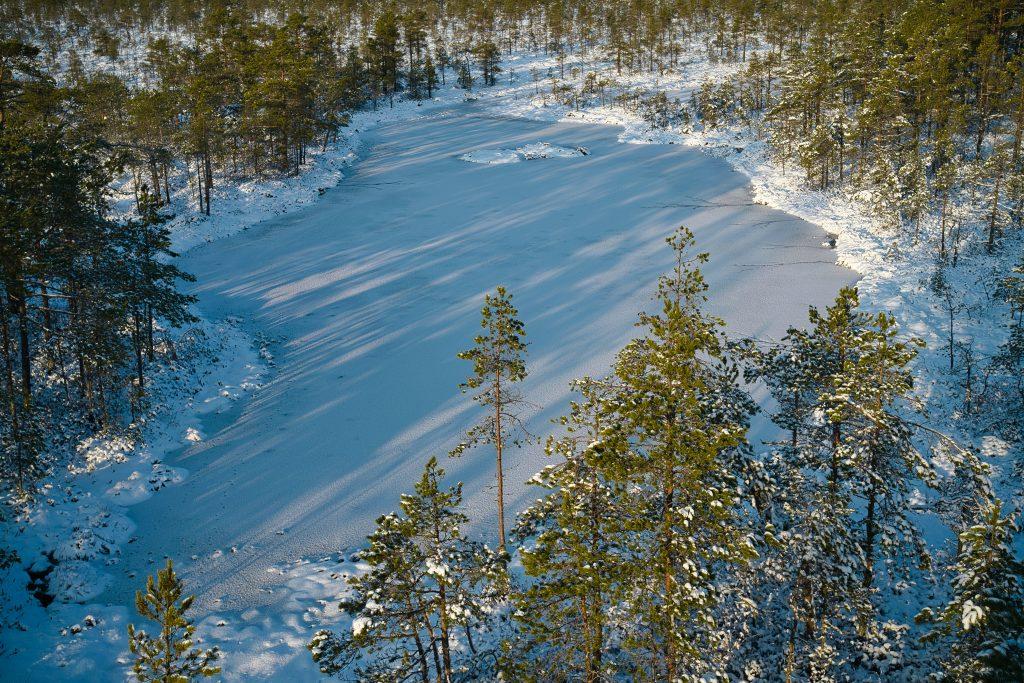 Frozen lake Estonia